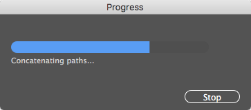 Concatenate progress bar