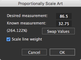Proportional Scale function