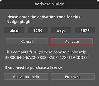 Activation Dialog, Activate button