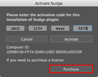 Activation Dialog, Purchase button
