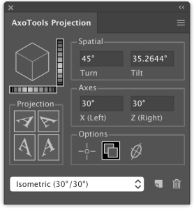 Graffix AxoTools projection panel